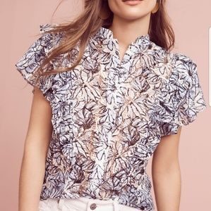Anthropologie Dina Agam Jolyn Blouse Size Small